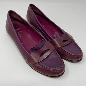 Cole Haan NikeAir Penny Loafers Women's Size 9.5 Shoes Burgundy/PurpleSlip On